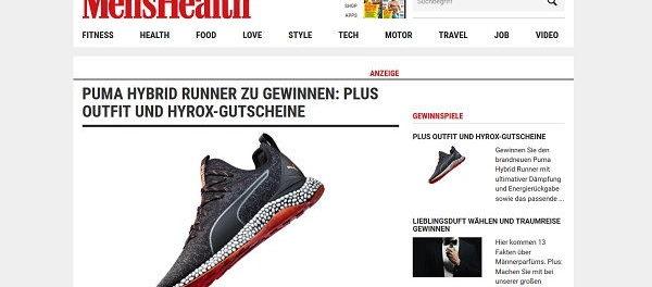 Mens Health Gewinnspiel Puma Laufoutfit gewinnen