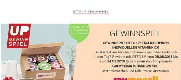 Otto Gewinnspiel täglich mymuesli Gutscheine gewinnen