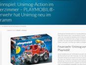 PLAYMOBIL Feuerwehr-Unimog Gewinnspiel Unimog-Community