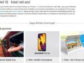 Pixum Gewinnspiel Interrail Ticket oder Huawei P20 Smartphone
