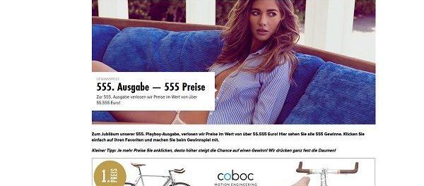 Playboy Gewinnspiel 555 Preise 55.555 Euro