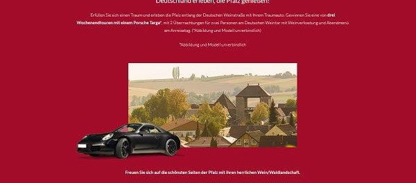 Porsche Targa Gewinnspiel weintor.de
