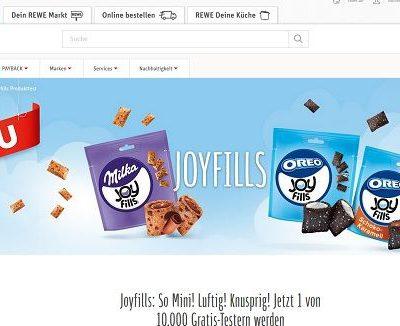 REWE Gewinnspiele 10.000 Oreo Joyfills Tester gesucht