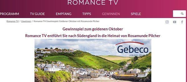 Romance TV Reise Gewinnspiel Rosamunde Pilcher England Urlaub