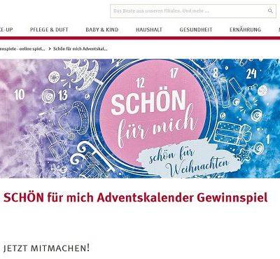 Rossmann Adventskalender Gewinnspiel Schön für mich Kalender