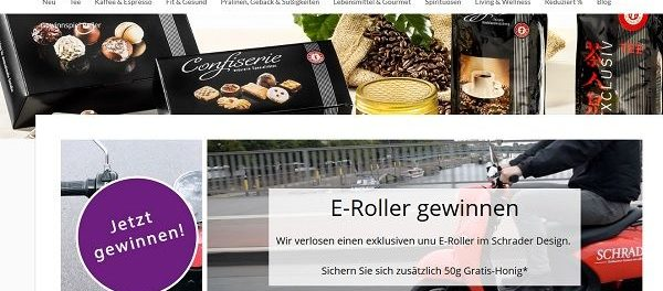 Schrader Gewinnspiel unu E-Roller im Schrader Design