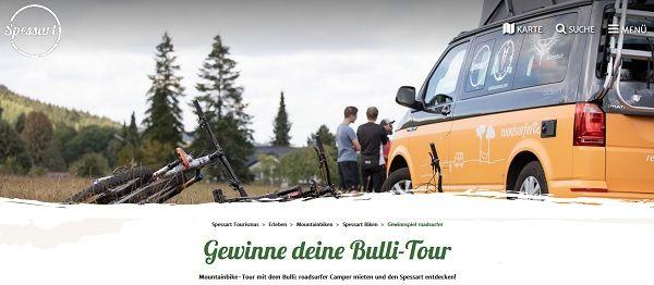 Spessart Tourismus Reise Gewinnspiel Campertour