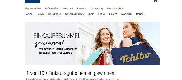 Tchibo Gewinnspiel 100 Einkaufsgutscheine