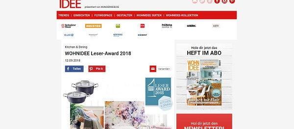 Wohnidee Gewinnspiel Leserward 2018 186 Preise Gesamtwert 28.000 Euro