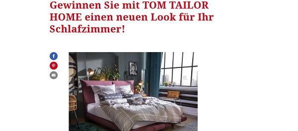 freundin Gewinnspiel Tom Tailor Home Schlafzimmer Look