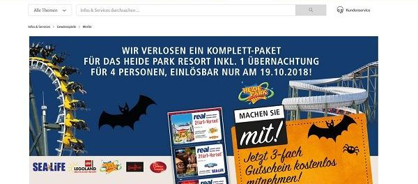 real Gewinnspiel Heide Park Resort Familienaufenthalt