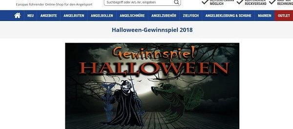 Askari Angelsport Halloween Gewinnspiel Gutscheine