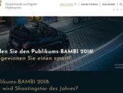 Auto Gewinnspiel Bambi Leserwahl Smart gewinnen