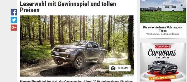 Auto-Gewinnspiel Caravaning Leserwahl Fiat Fullback