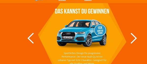 Auto Gewinnspiel Ferrero Küsschen Audi Q3