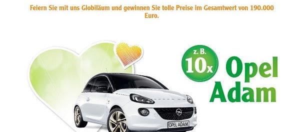 Auto Gewinnspiel Globus Jubiläum 10 Opel Adam