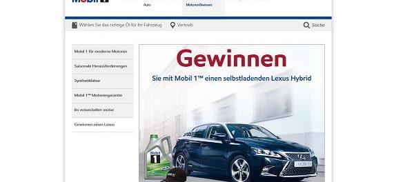 Auto-Gewinnspiel Mobil1 Lexus Hybrid