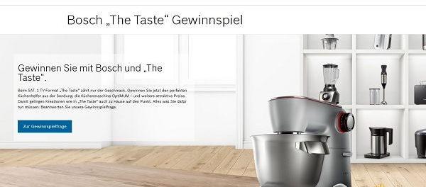 Bosch Gewinnspiel OptiMUM Küchenmaschine