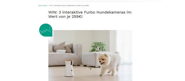 Couchstyle Gewinnspiele 3 Furbo interaktive Hundekameras
