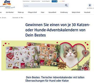 DM Gewinnspiel 30 Hunde und Katzen Adventskalender gewinnen