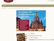 Dresden Wochenendreise Gewinnspiel Spezialiäten Haus Versand