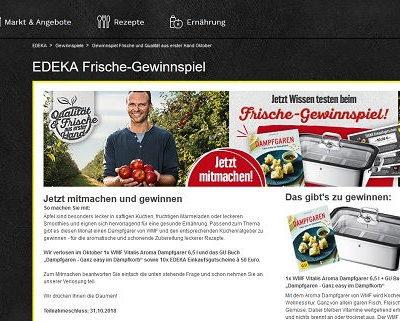 Edeka Frische Gewinnspiel WMF Dampfgarer und Einkaufsgutscheine