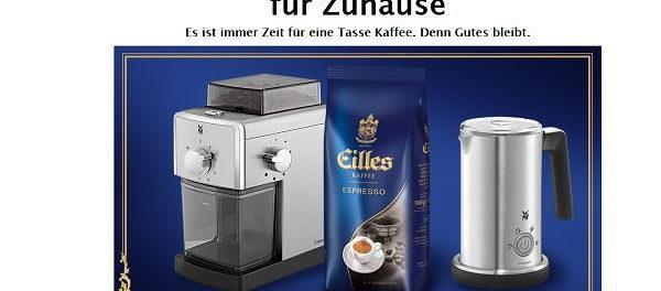 Eilles Kaffee Gewinnspiel Milchaufschäumer und Kaffeemühle