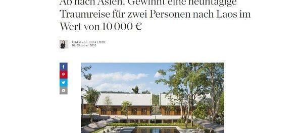 Elle Reise Gewinnspiel 10.000 Euro Laos Traumurlaub