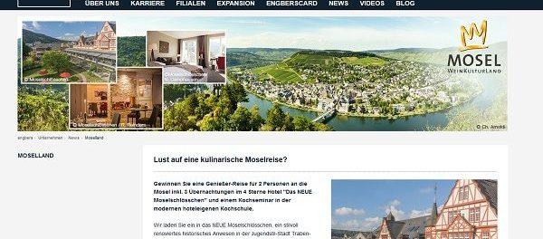 Engbers Gewinnspiel Mosel Reise 2 Personen