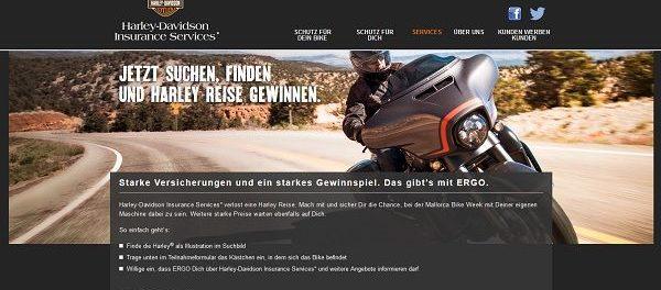 Ergo Gewinnspiel Harley Davidson Mallorca Reise 2019