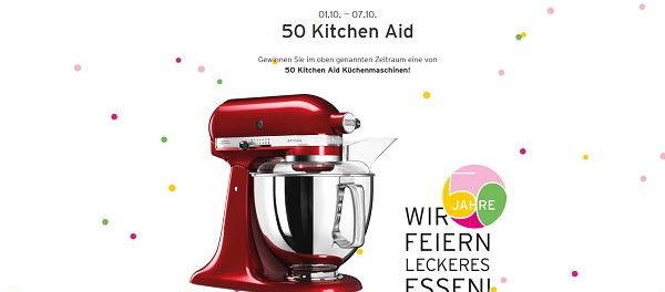 Ernstings Family Gewinnspiel 50 KitchenAid Küchenmaschinen