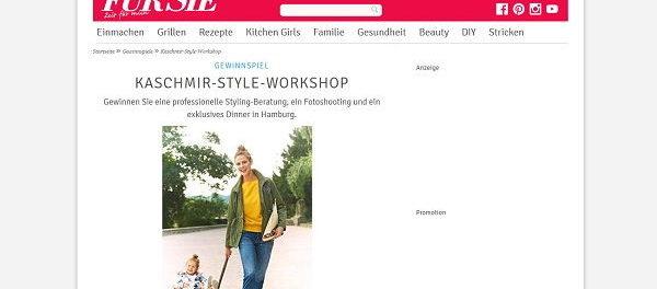 Für Sie Gewinnspiel Kaschmir Style Worshop Hamburg