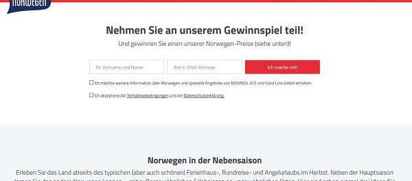 Ferienhaus Norwegen Gewinnspiel Norwegenurlaub inkl. Fähre