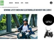 Fittaste E-Roller Gewinnspiel unu Motorroller