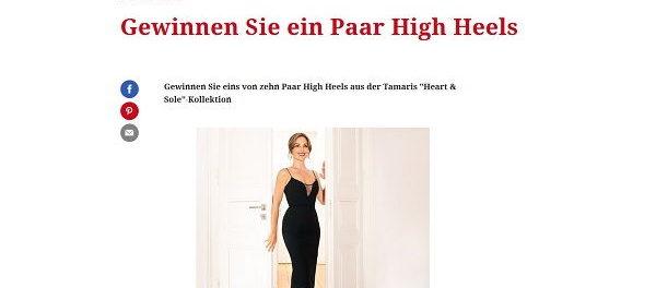 Freundin Gewinnspiel 10 Paar High Heels Tamaris