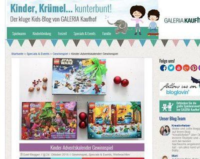 Galeria Kaufhof Gewinnspiel Kinder-Adventskalender Lego Playmobil