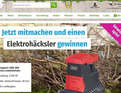 GartenXXL Gewinnspiel Scheppach Elektrohäcksler
