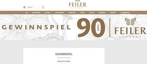 Gewinnspiel 90 Jahre Feiler Wellness-Wochenende oder Chenille-Warenpaket