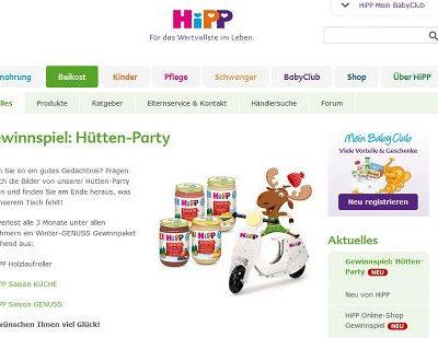 HIPP Gewinnspiel Laufrad und Produktpakete