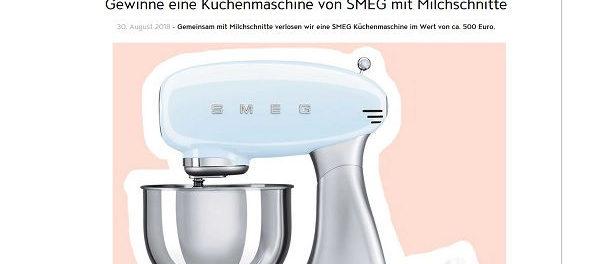 Jolie Gewinnspiel Milch Schnitte SMEG Küchenmaschine