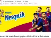 Kaufland Gewinnspiel Nestle Trainingsplatz Kind Barcelona