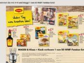 Klaas und Kock Maggi Gewinnspiel 50 WMF Fondue-Sets