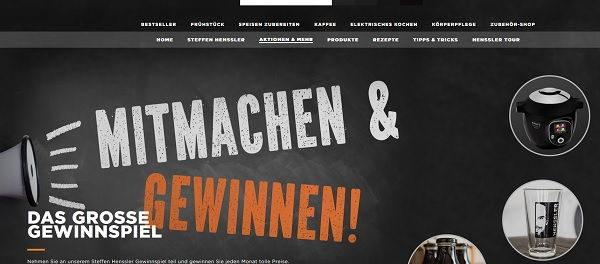 Krups Gewinnspiel Cook4Me+ Connect und Steffen Hensler Produkte