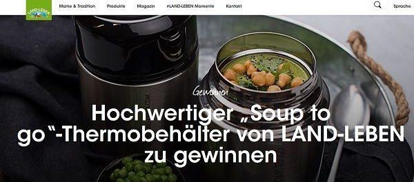 Land Leben Gewinnspiel Soup to Gi Thermobehälter