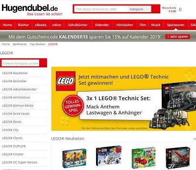 Lego Technik Gewinnspiel Hugendubel 2018