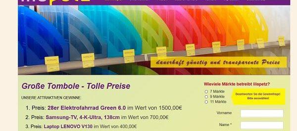 Lilapetz Gewinnspiel E-Bike, Samsung TV und Laptop
