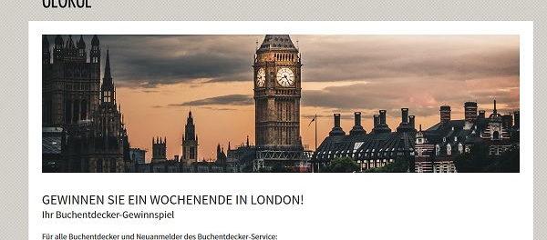 London Wochenendreise Gewinnspiel Elizabeth George