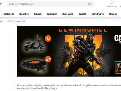 Müller Gewinnspiel Uni E-Roller und Playstation 4