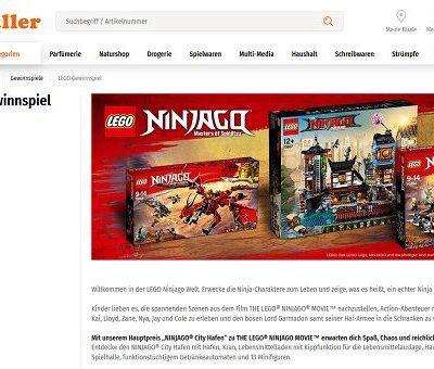 Müller Gewinnspiele Lego Ninjago Sets