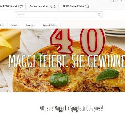 Maggi und REWE Gewinnspiel 40 mal 250 Euro Gutscheine